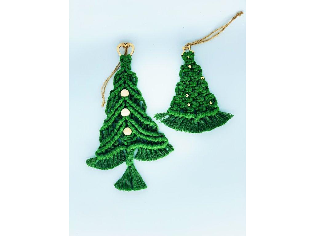 Sada závěsných vánočních dekorací stromečky 4