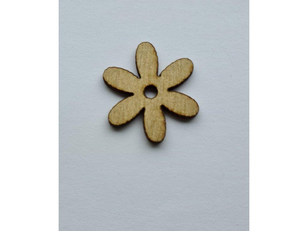 Květ kopretina dřevěný 27mm