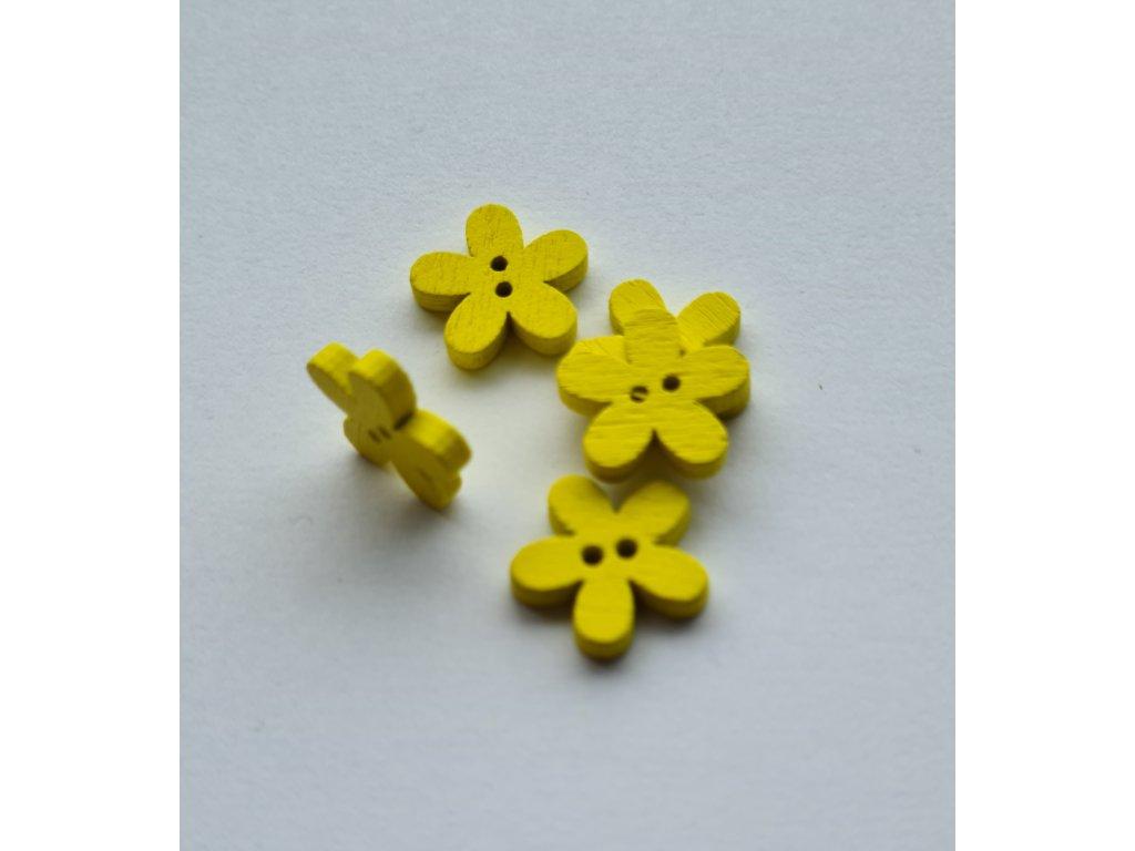 Kvítek žlutý dřevěný 15mm