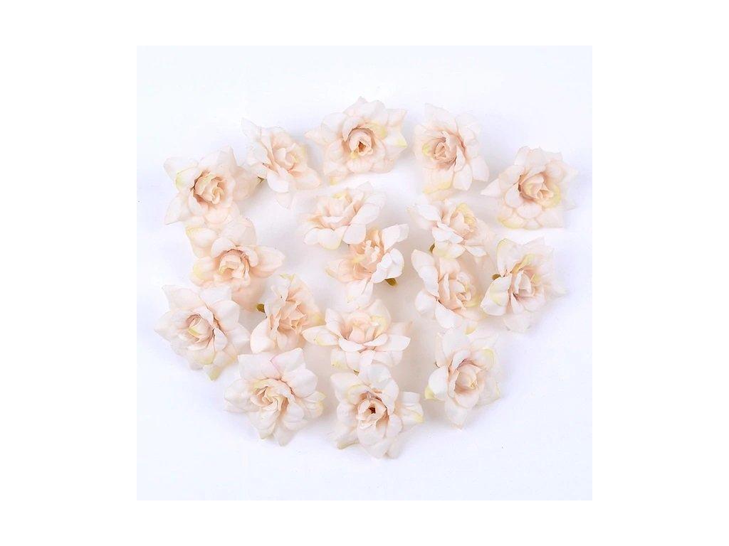 Květ růže béžový 4,5 cm