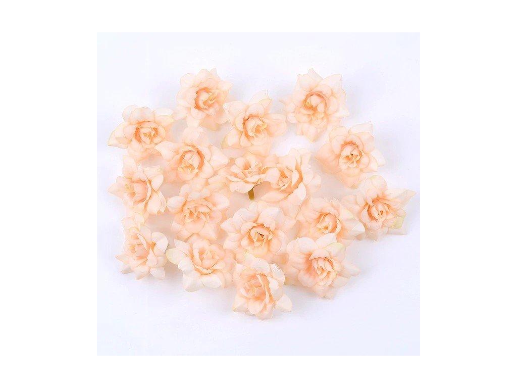 Květ růže champagne 4,5cm (2)