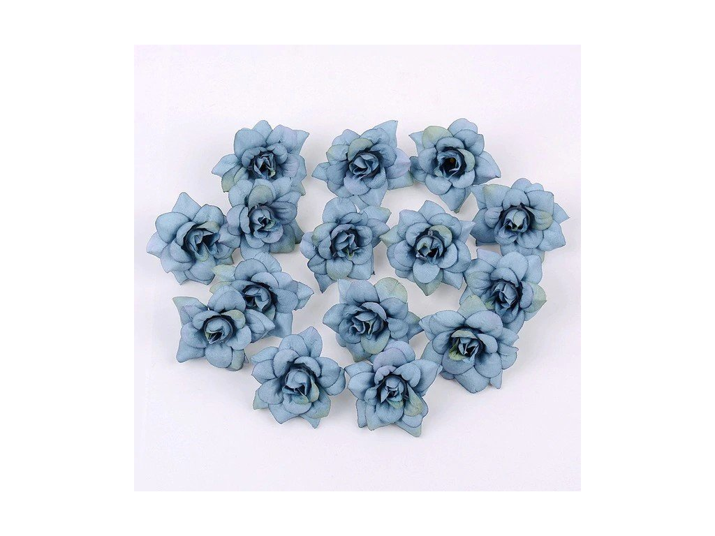 Květ růže modrý tmavý 4,5cm (2)