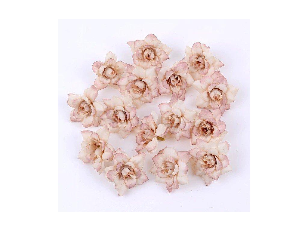 Květ růže růžový světlý 4,5 cm (2)