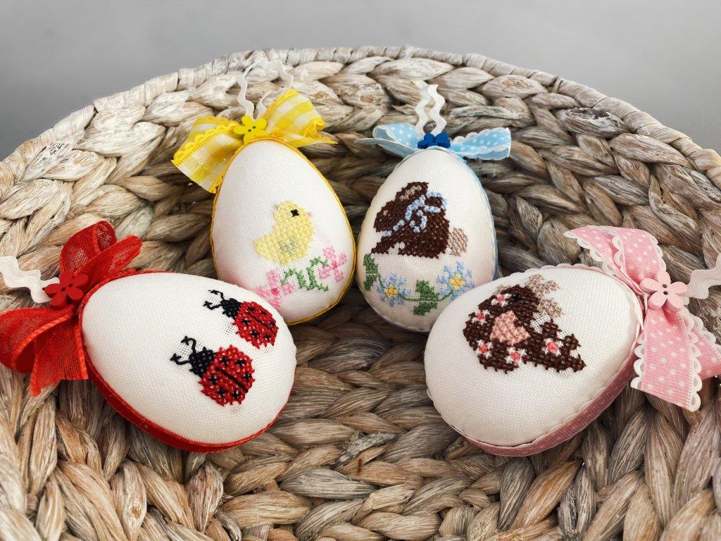Velikonoční kraslice vyšívané sada 4ks