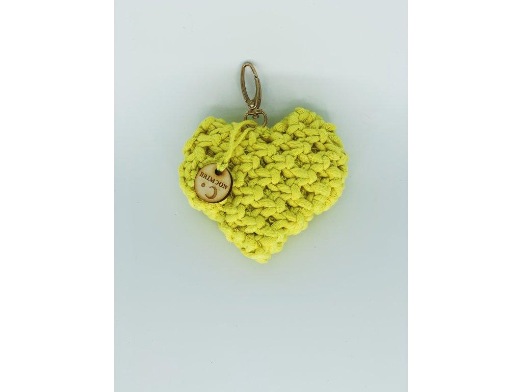 Přívěšek srdce žluté 1