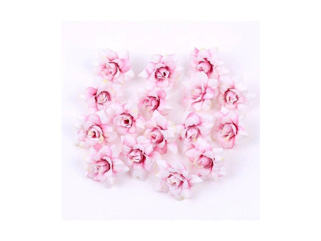 Květ růže bílorůžový 4,5cm (2)