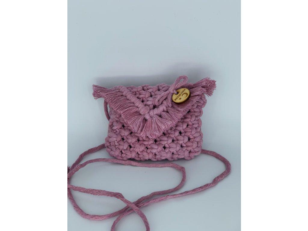 Dětská kabelka pro malou parádnici starorůžová 1
