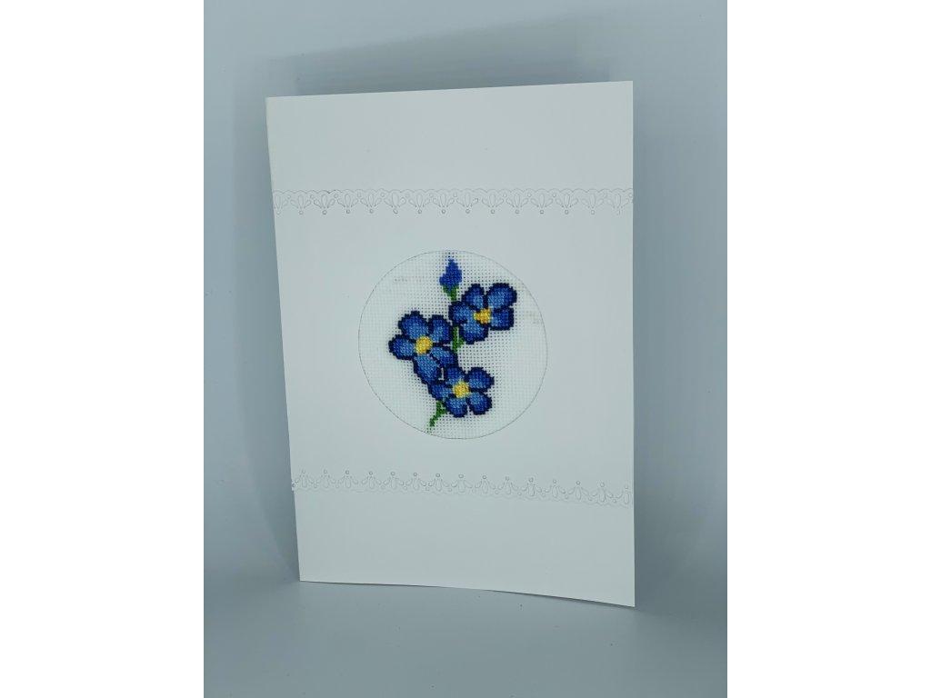 Přání s modrými květy 2