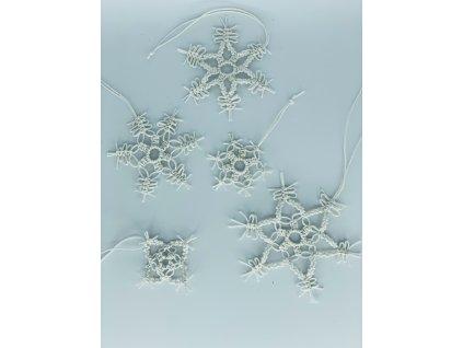 Sada závěsných vánočních dekorací sněhové vločky 4