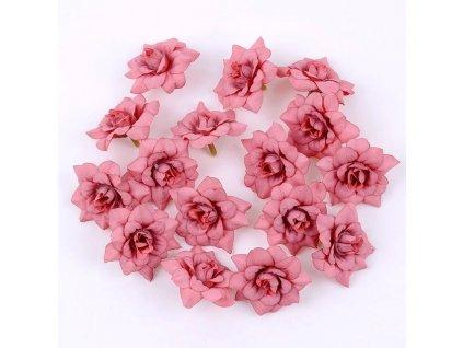 Květ růže červený tmavý 4,5 cm