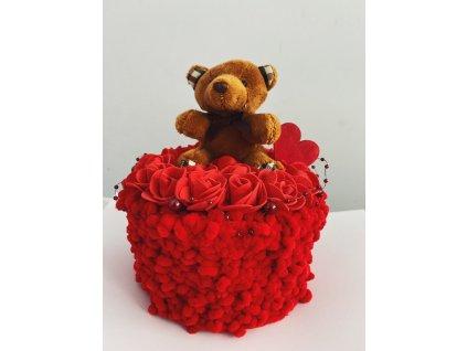 Valentýn dárek červené růže