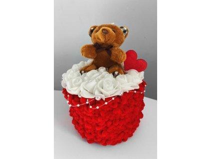 Valentýn dárek bílé růže