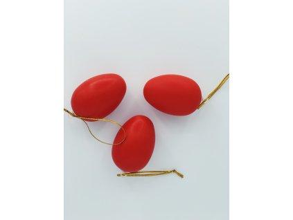 Velikonoční vajíčko závěsné červené