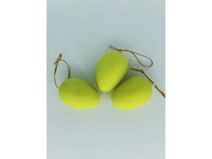 Velikonoční vajíčko závěsné žluté