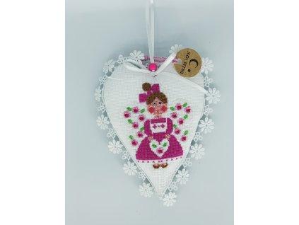 Srdíčko s růžovým andílkem 1
