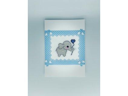 Přání slon modré 1