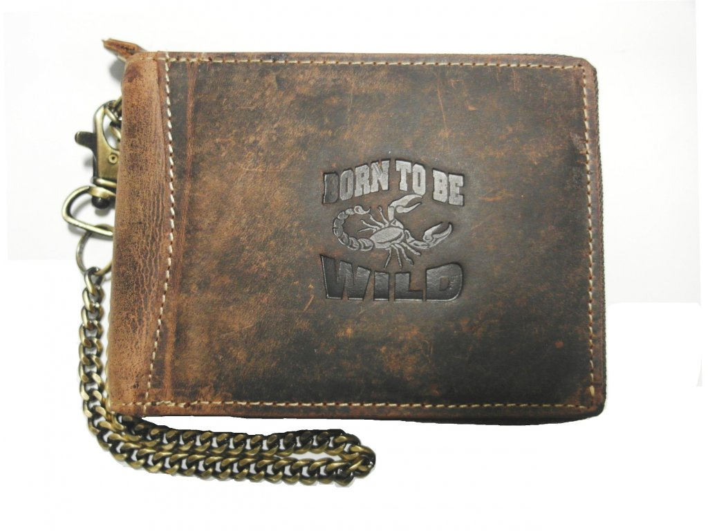 Kožená peněženka s řetězem