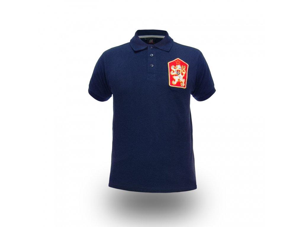 Pánské Tričko ČSSR S Límečkem Brixton Modré