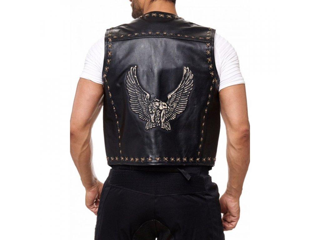 Pánská Kožená Vesta Eagle Brixton Černá