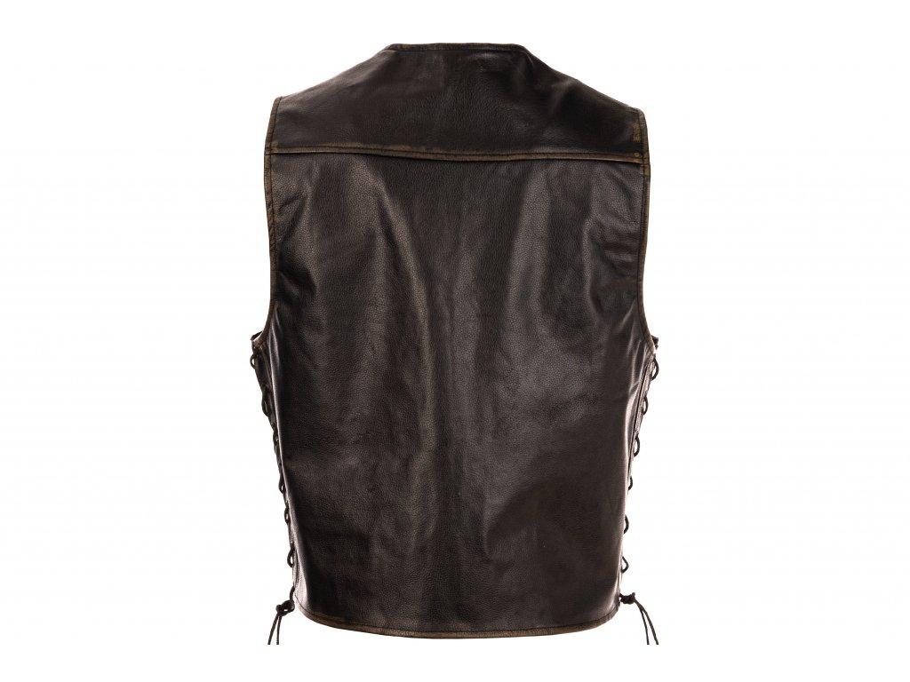 Pánská kožená vesta Chopper Rub-Off černá