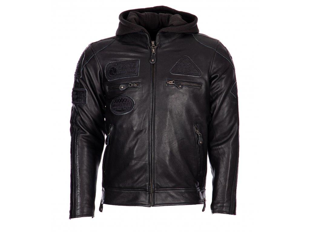 Pánská Kožená Bunda MC Collection All Black Brixton Černá