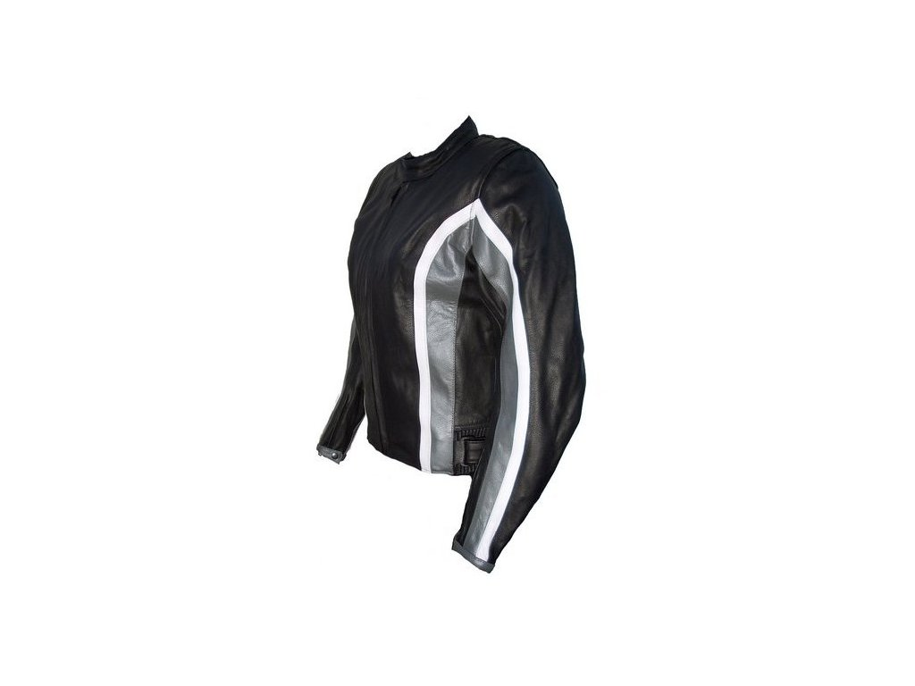 Dámská kožená bunda Lady Silver, Brixton, stříbrná