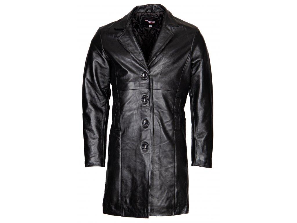 Pánský Kožený Kabát Neo Brixton Černý
