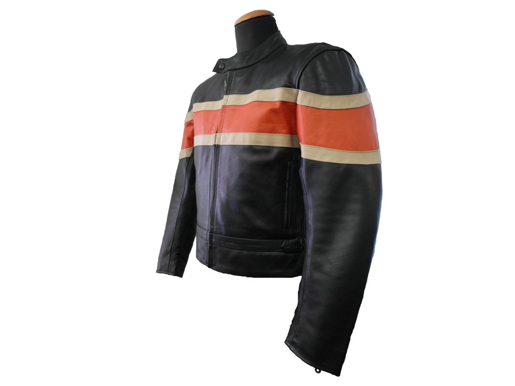 Pánská kožená bunda Hardy černá