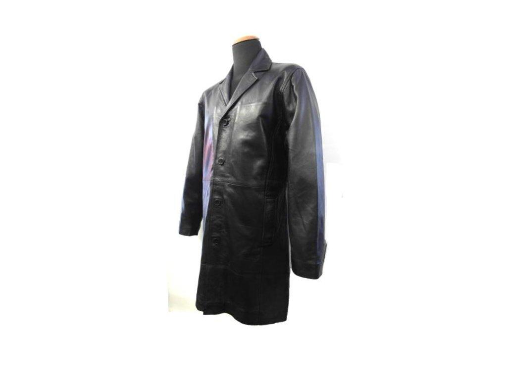 Pánský kožený kabát, Brixton, černý