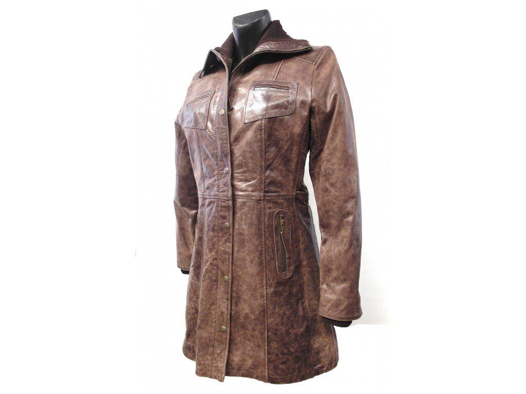 Dámský Kožený kabát Suzen, Brixton, hnědý