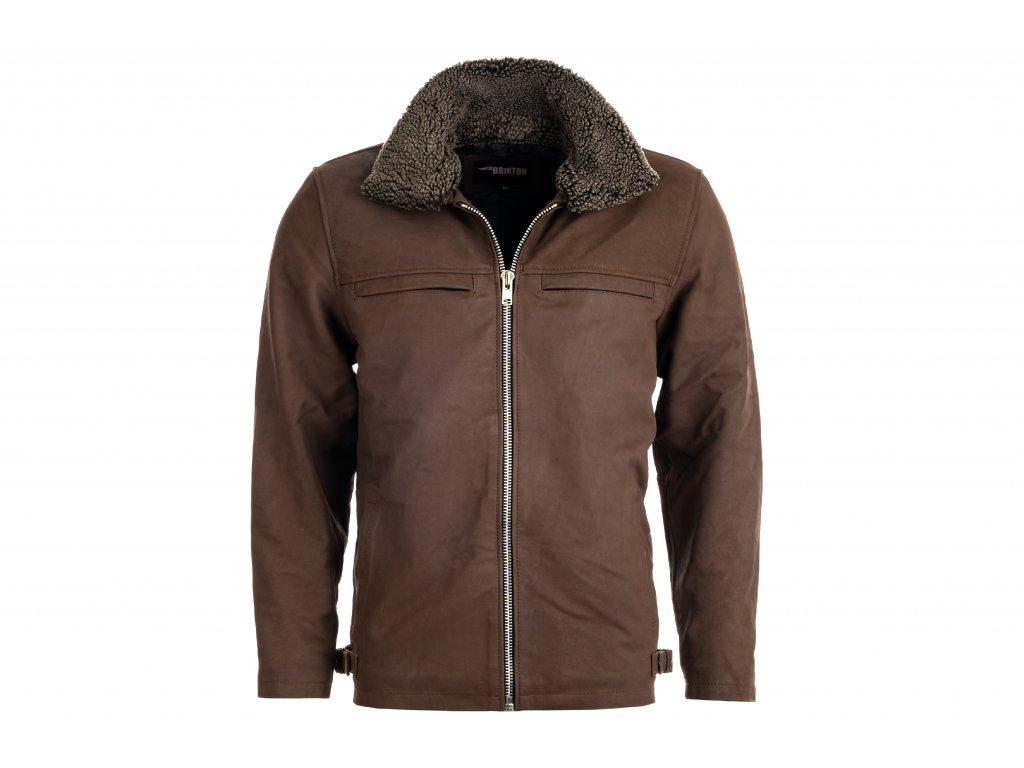 Pánská kožená bunda Foster Skipper, Brixton, hnědá