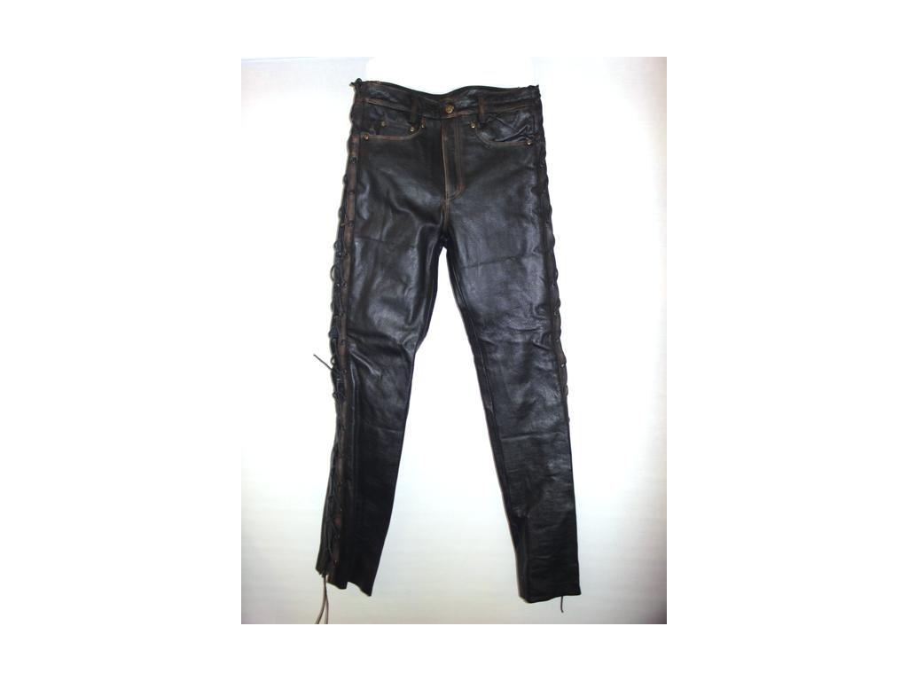 Pánské kožené kalhoty T - 502 Rub off, Brixton, černé