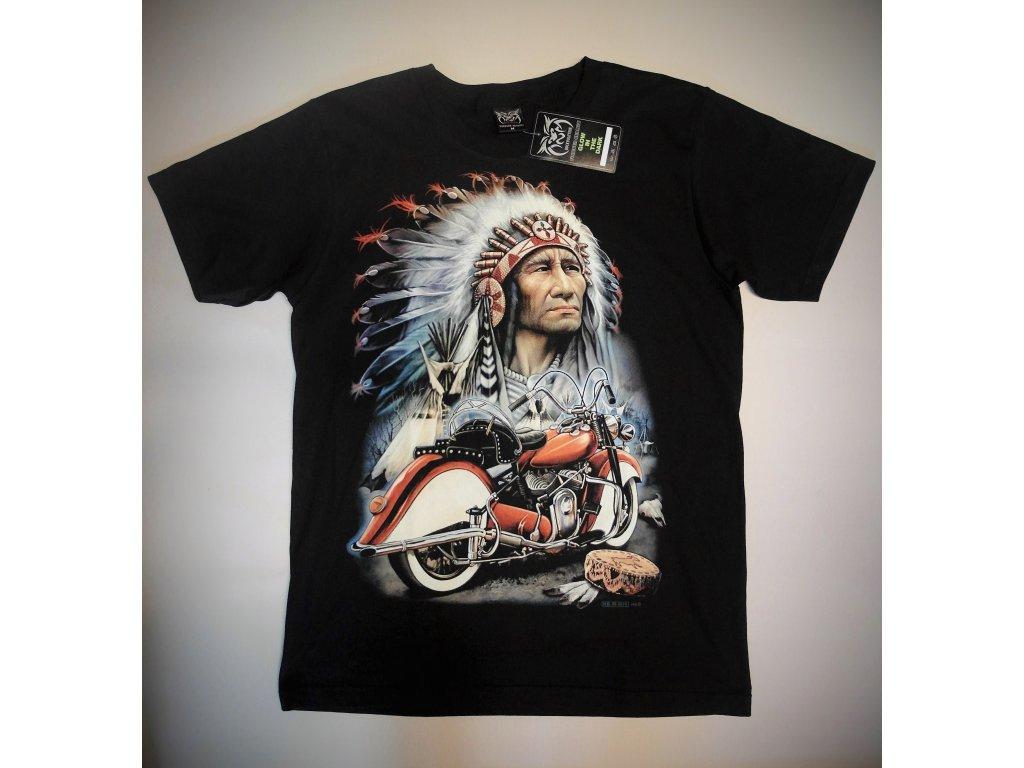 Pánské triko Indian, Brixton, černé