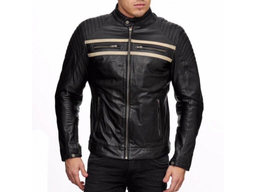 Pánská kožená bunda Martin černá