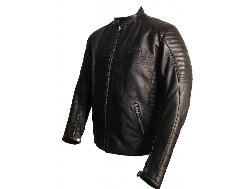 Pánská kožená bunda Brixton Dirty 1 černá