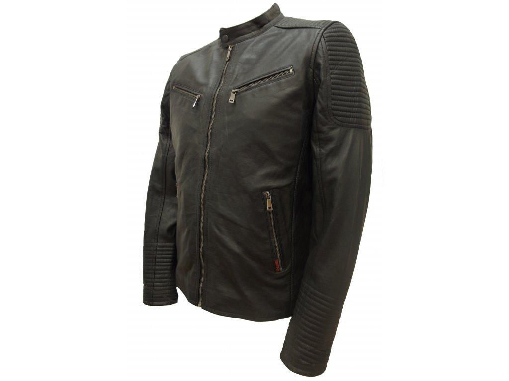 Pánská kožená bunda Kevin černá