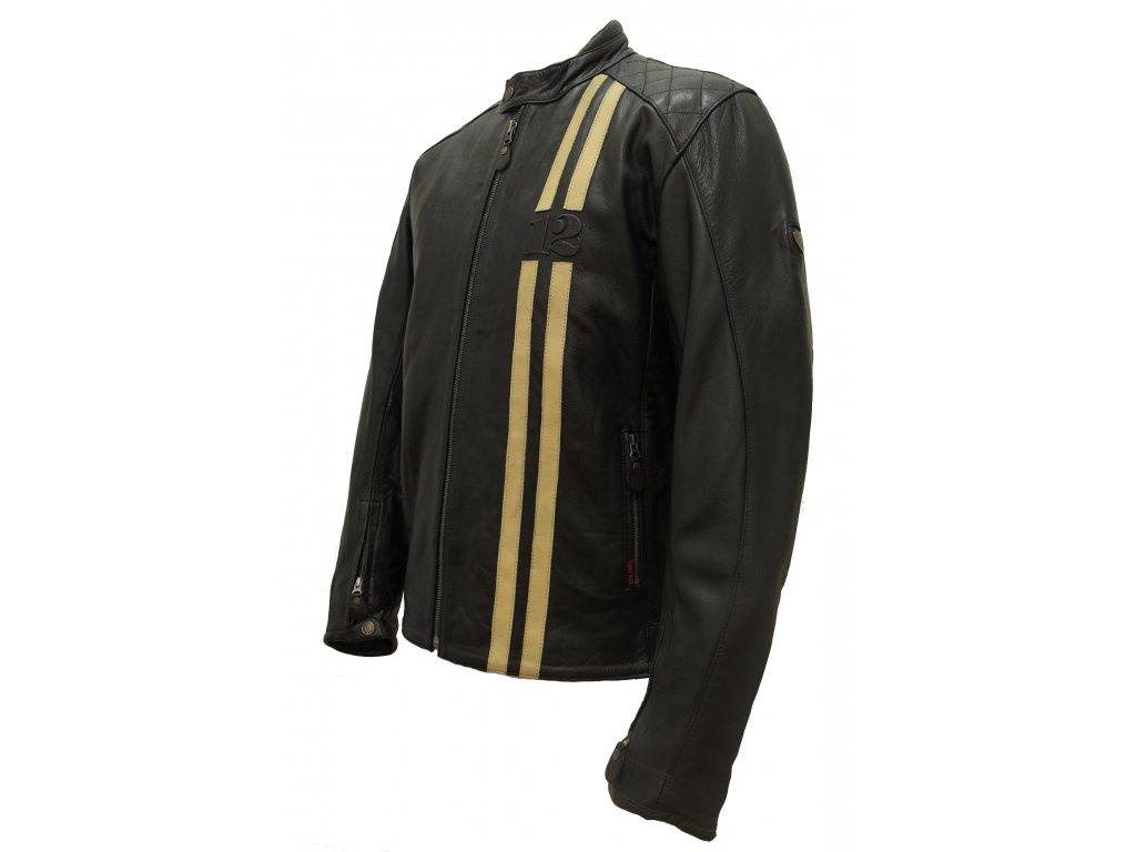 Pánská kožená bunda MB12 černá