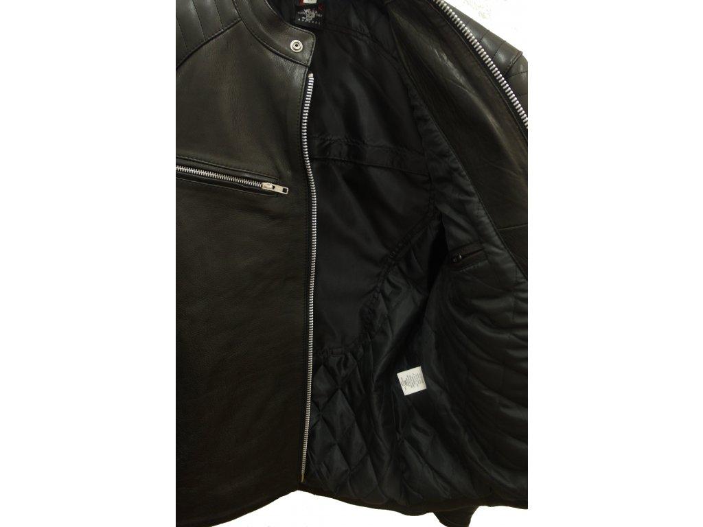 e0d9a750514 Pánská kožená bunda Matt černá - BrixtonBest.cz