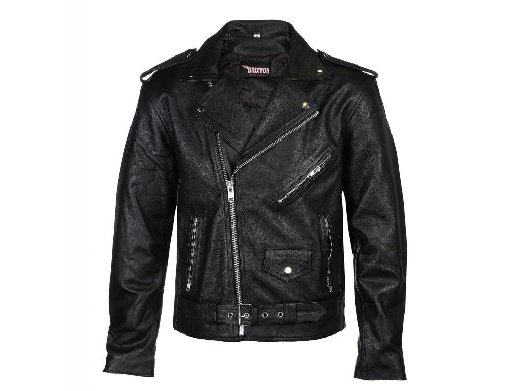 pánská kožená bunda křivák classic brixton krivak klasik