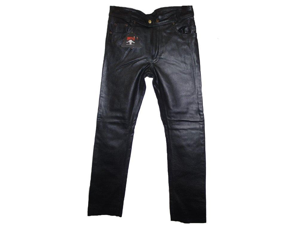 Pánské Kožené Kalhoty T-501 Brixton Černé