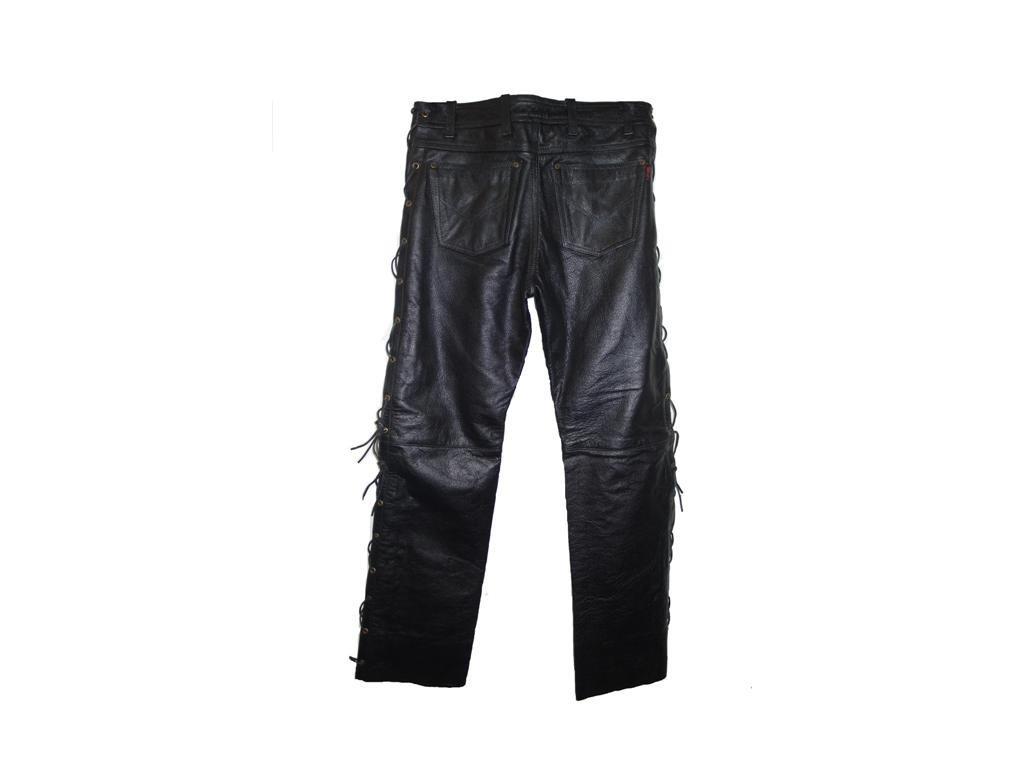 Pánské Kožené Kalhoty T-502 Brixton Černé