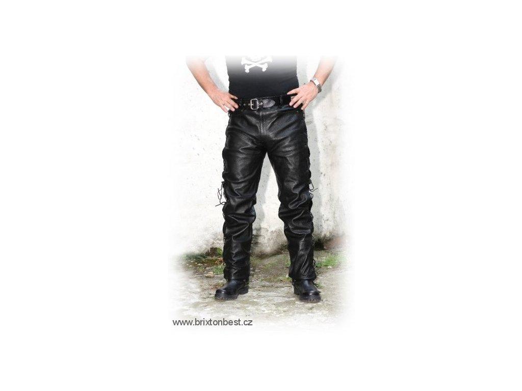 Pánské kožené kalhoty T - 502 černé