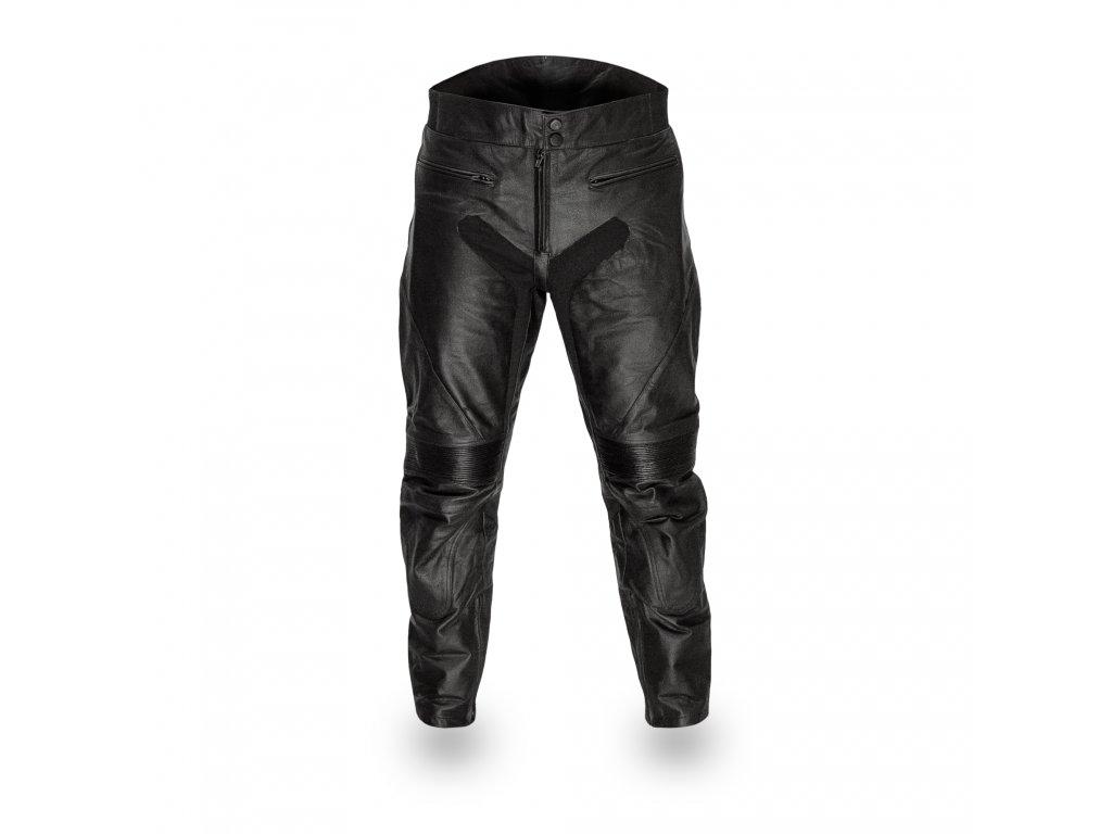 Pánské Kožené Moto Kalhoty T-506 Brixton Černé