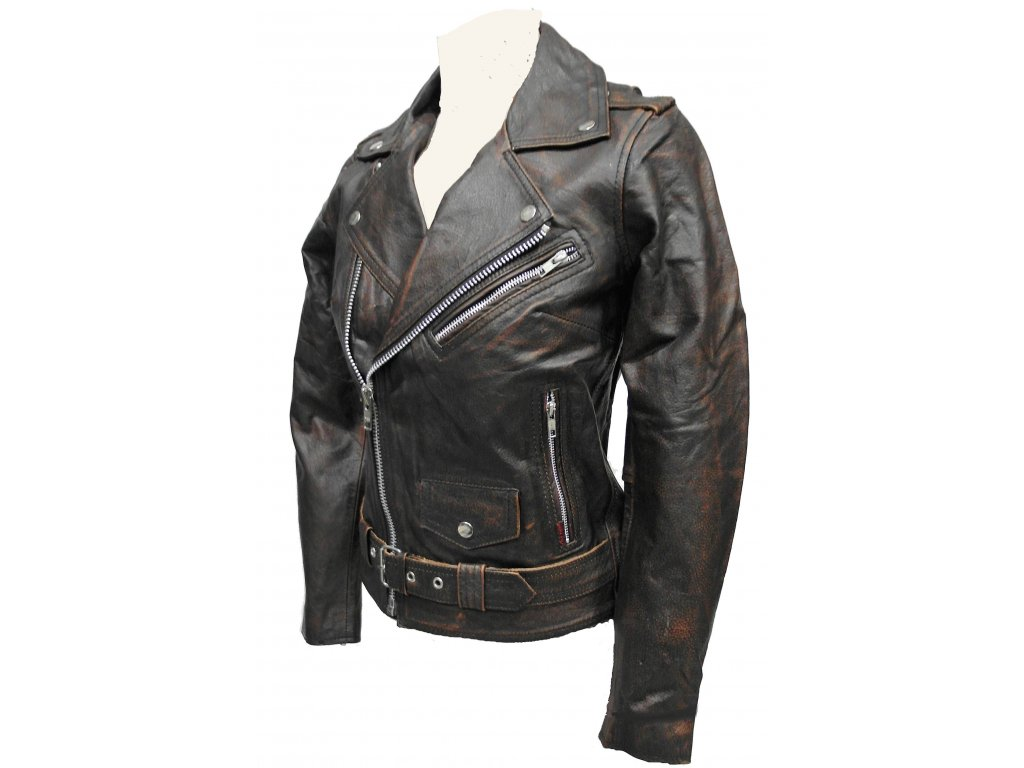 Dámská kožená bunda Lady Eagle, Brixton, hnědá