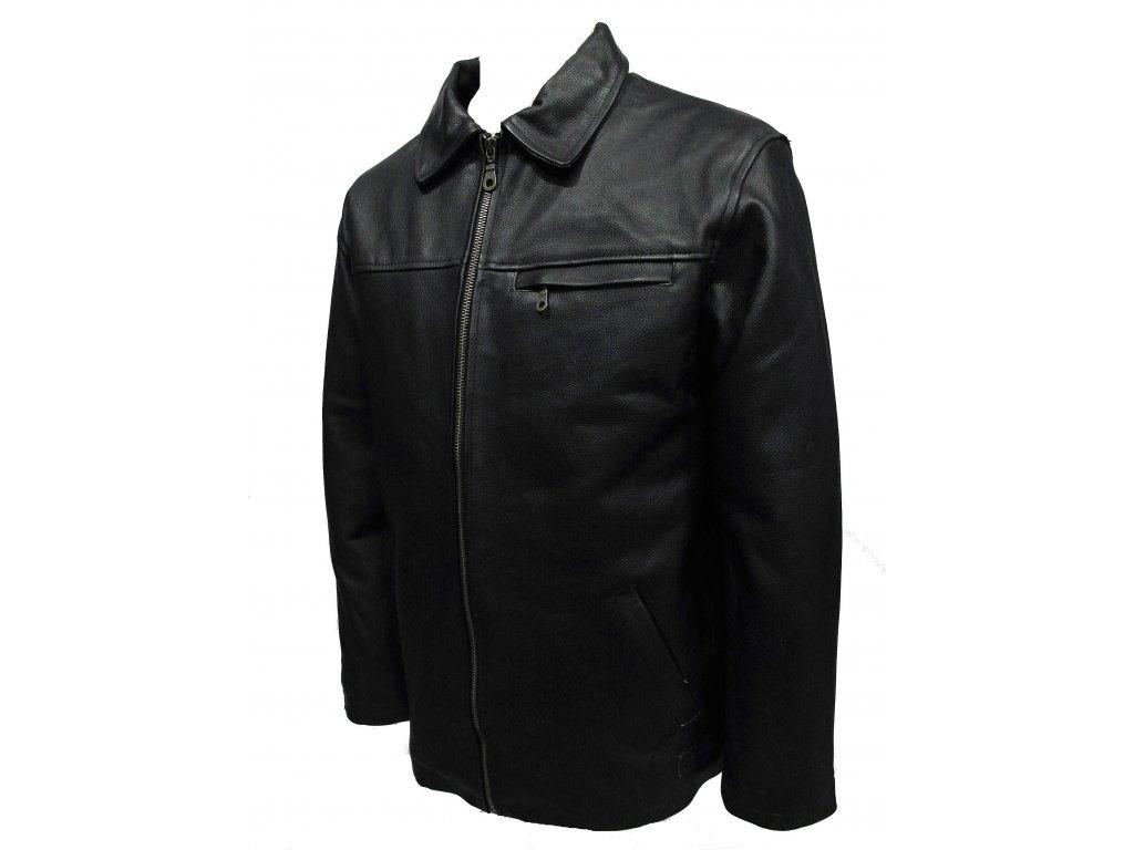 Pánská kožená bunda Jasper černá