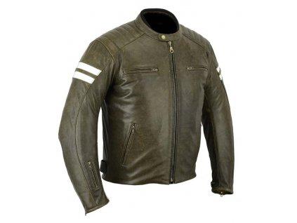 Kožená moto bunda Legendary, Hněda