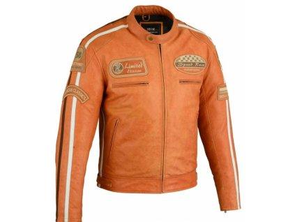 Kožená bunda Orange LTD, Brixton, Oranžová