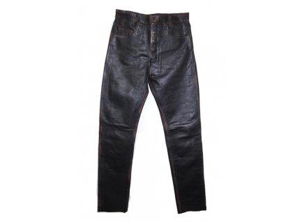 Pánské Kožené Kalhoty T-501 Rub Off Brixton Černé