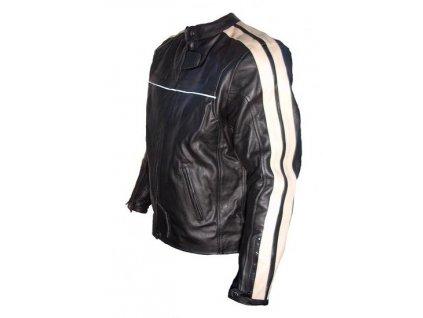 Pánská kožená bunda Palermo beige černá