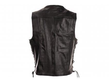 Pánská kožená vesta Chopper 2 černá